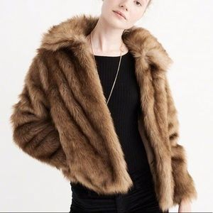 Abercrombie and Fitch Fur Coat Jacket